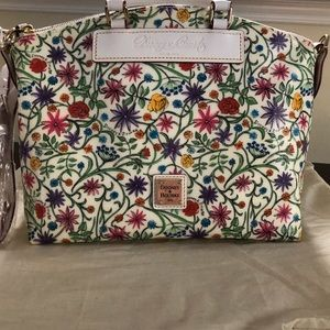 Dooney and Bourke White Floral New  Tags Satchel